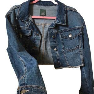 Wildfable denim cropped jacket NWOT